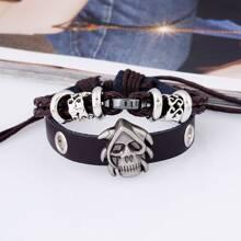 Men Skull Decor Bracelet