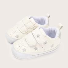 Baby Maedchen Sneakers mit Stern Stickereien