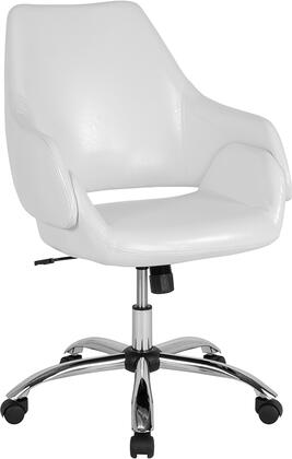 Madrid Collection CH-177280-WH-GG Home and Office Chair with 360 Degree Swivel Seat  Adjustable Seat Height  Tilt Tension Adjustment Knob and
