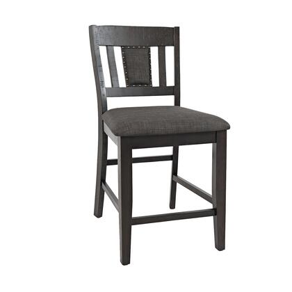 BM208506 Stool with Fabric Padded Seat and Slated Backrest  Set of 2