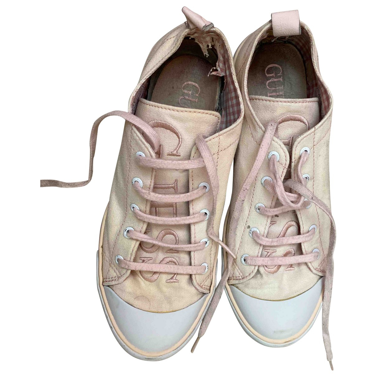Guess \N Pink Cloth Trainers for Women 40 EU