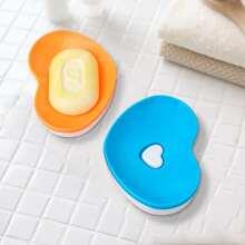 1pc Heart Shaped Random Soap Dish Holder