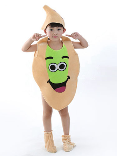Milanoo Halloween Food Costume Pistachio Nuts Kid Cosplay Costume