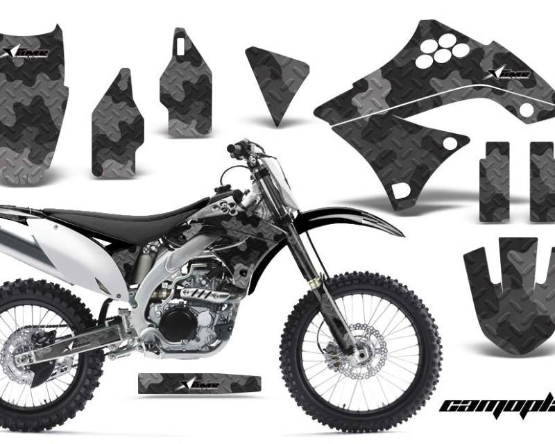 AMR Racing Dirt Bike Decal Graphics Kit Sticker Wrap For Kawasaki KXF450 2009-2011áCAMOPLATE GREEN