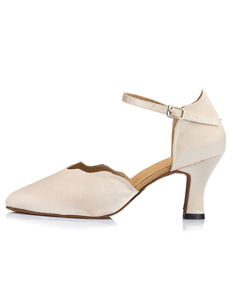 Milanoo Women's Dance Shoes Ankle Strap D'orsay Style High Heel Ballroom Shoes