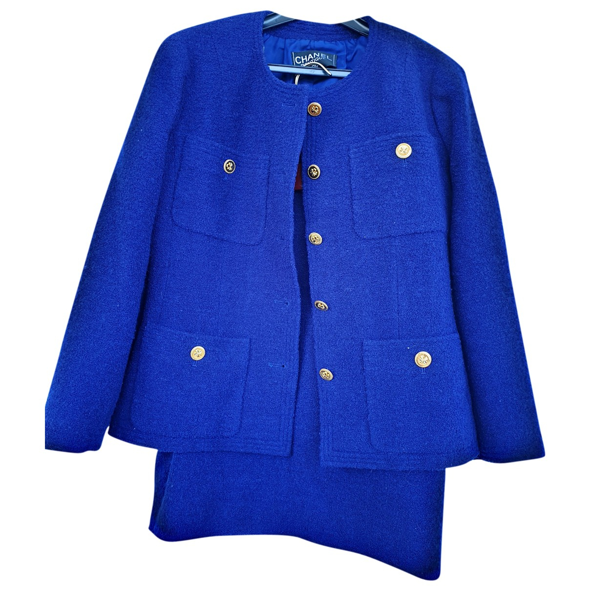 Chanel \N Jacke in  Blau Wolle