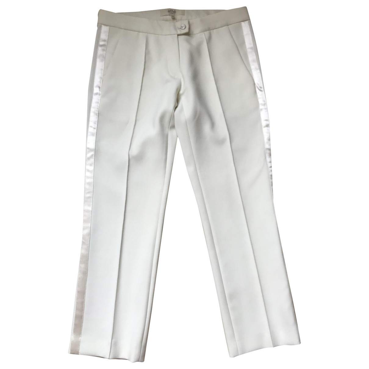 Vanessa Bruno Athe \N White Trousers for Women 40 FR