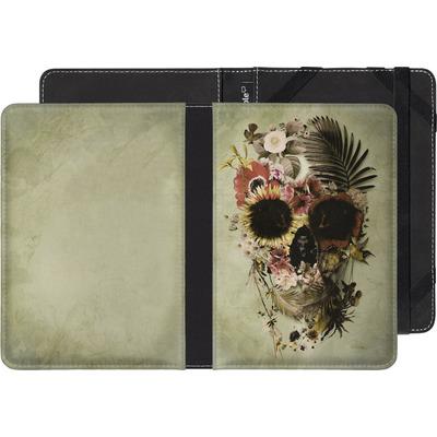 Sony Reader PRS-T1 eBook Reader Huelle - Garden Skull Light von Ali Gulec