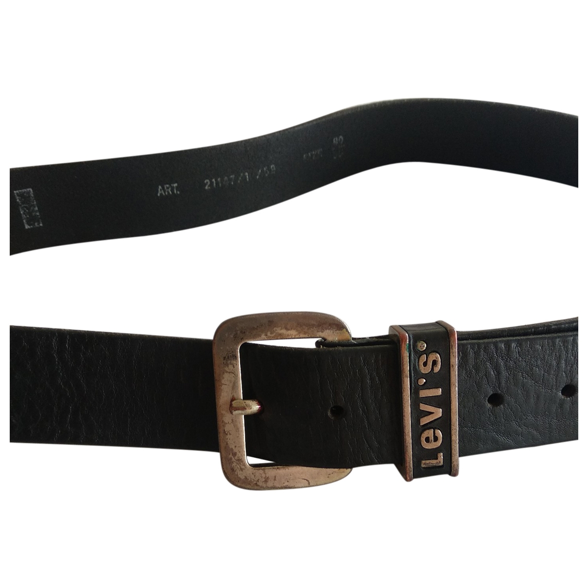Levis \N Black Leather belt for Men 90 cm