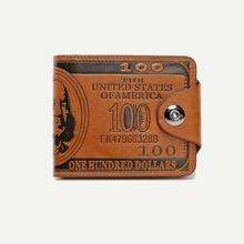 Maenner Falten Geldtasche mit Buchstaben Muster