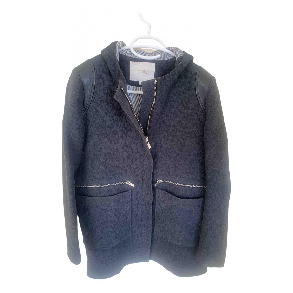 Maje - Manteau   pour femme en coton - bleu