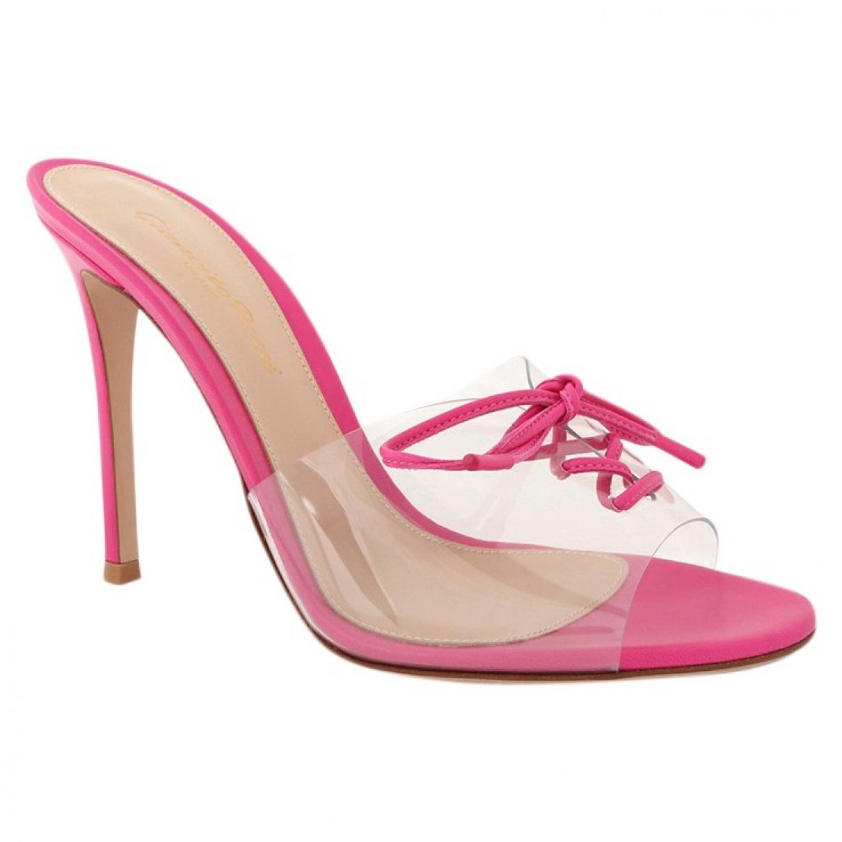 Gianvito Rossi \N Sandalen in  Rosa Kunststoff