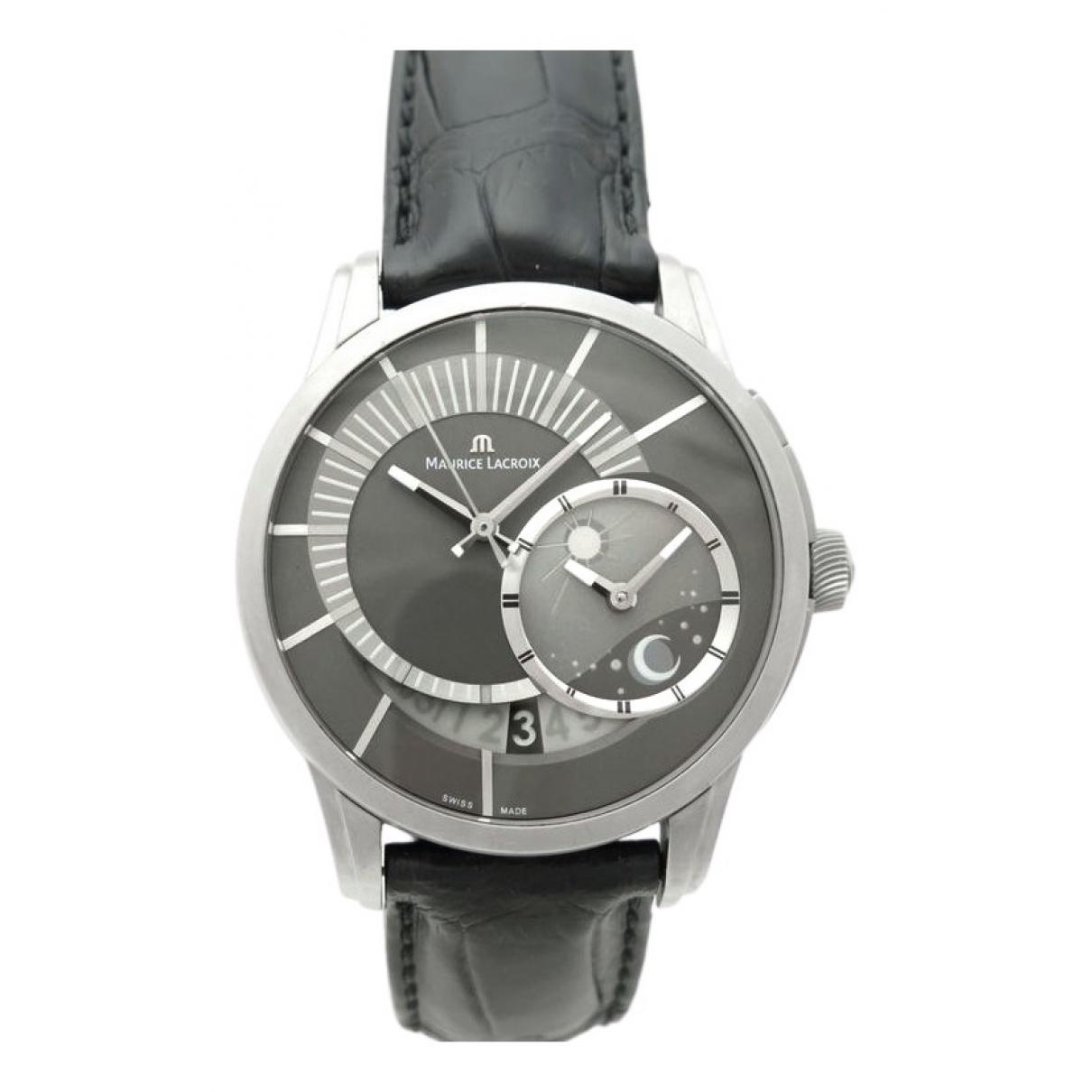 Maurice Lacroix \N Uhr in  Silber Titan