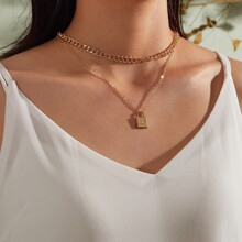1pc Lock Charm Layered Necklace