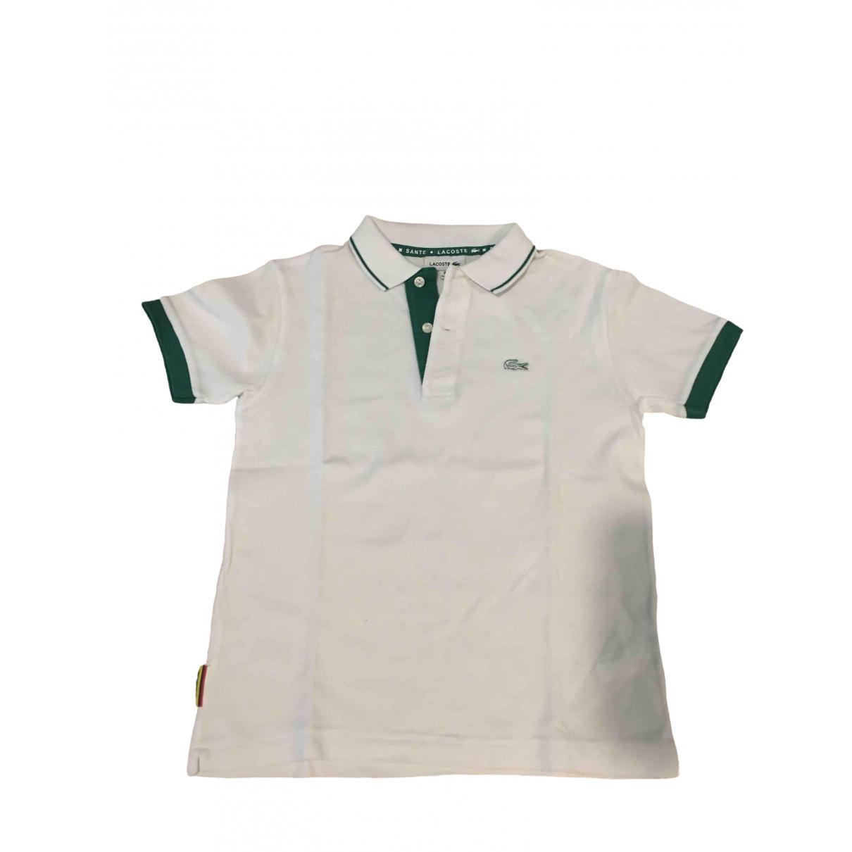 Camisetas en Algodon Blanco Lacoste