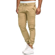 Men Drawstring Waist Solid Pants