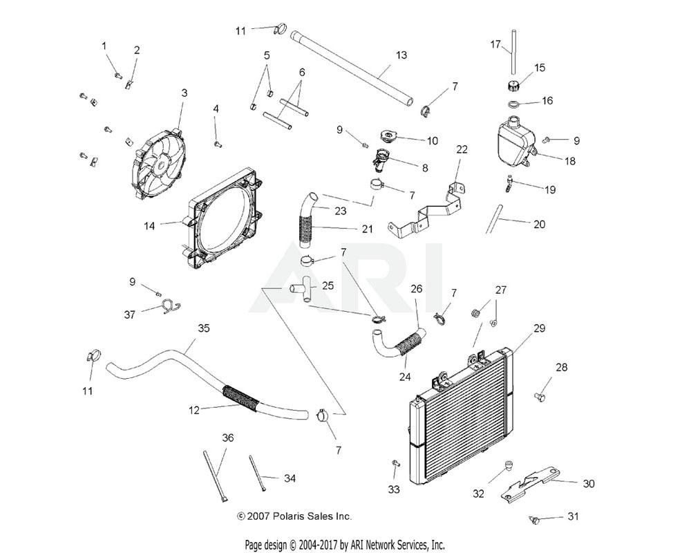 Polaris OEM 5413681 Hose, Lower Radiator | [Built 2/03/09 to 4/06/09]
