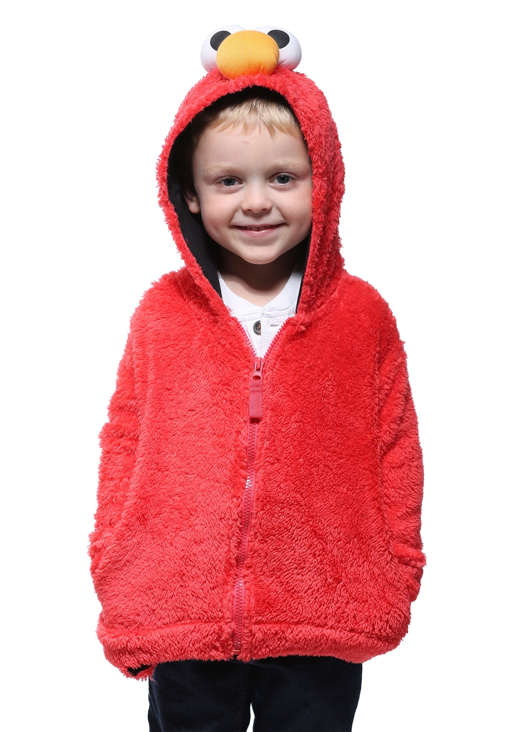 Sesame Street Elmo Faux Fur Costume Hoodie for Kids