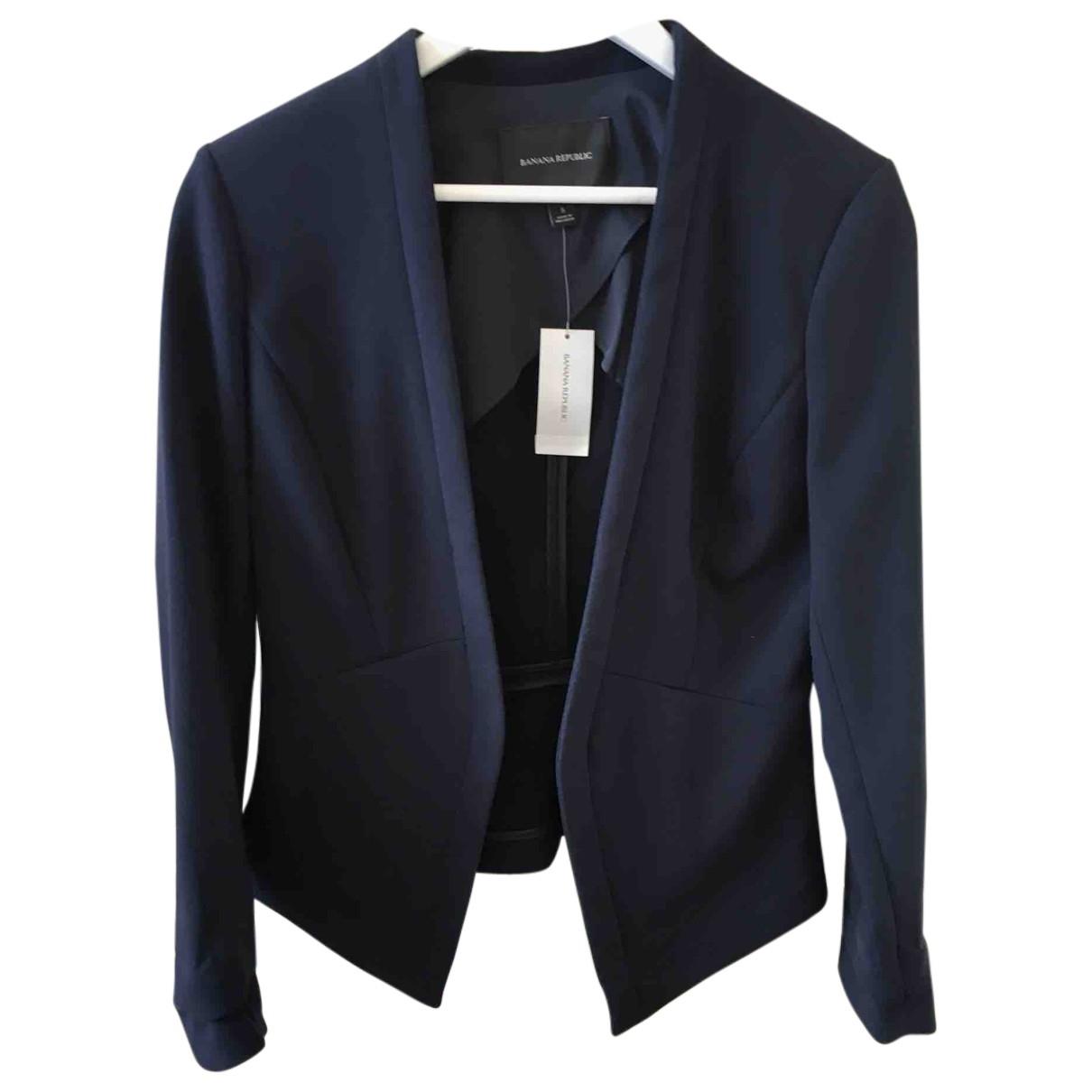Banana Republic \N Blue Leather jacket for Women 8 US