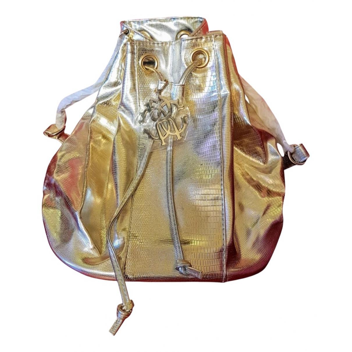 Roberto Cavalli \N Gold backpack for Women \N