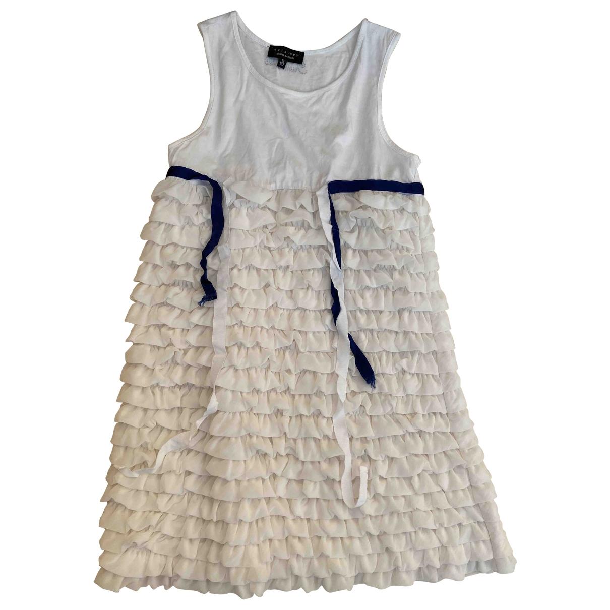 Twin Set \N White Cotton dress for Kids 12 years - XS FR