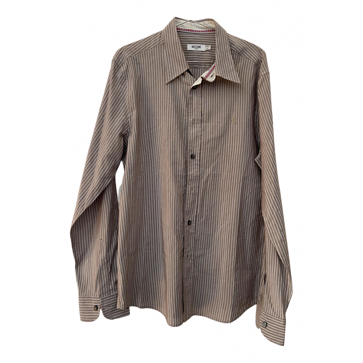 Moschino N Brown Cotton Shirts for Men L International