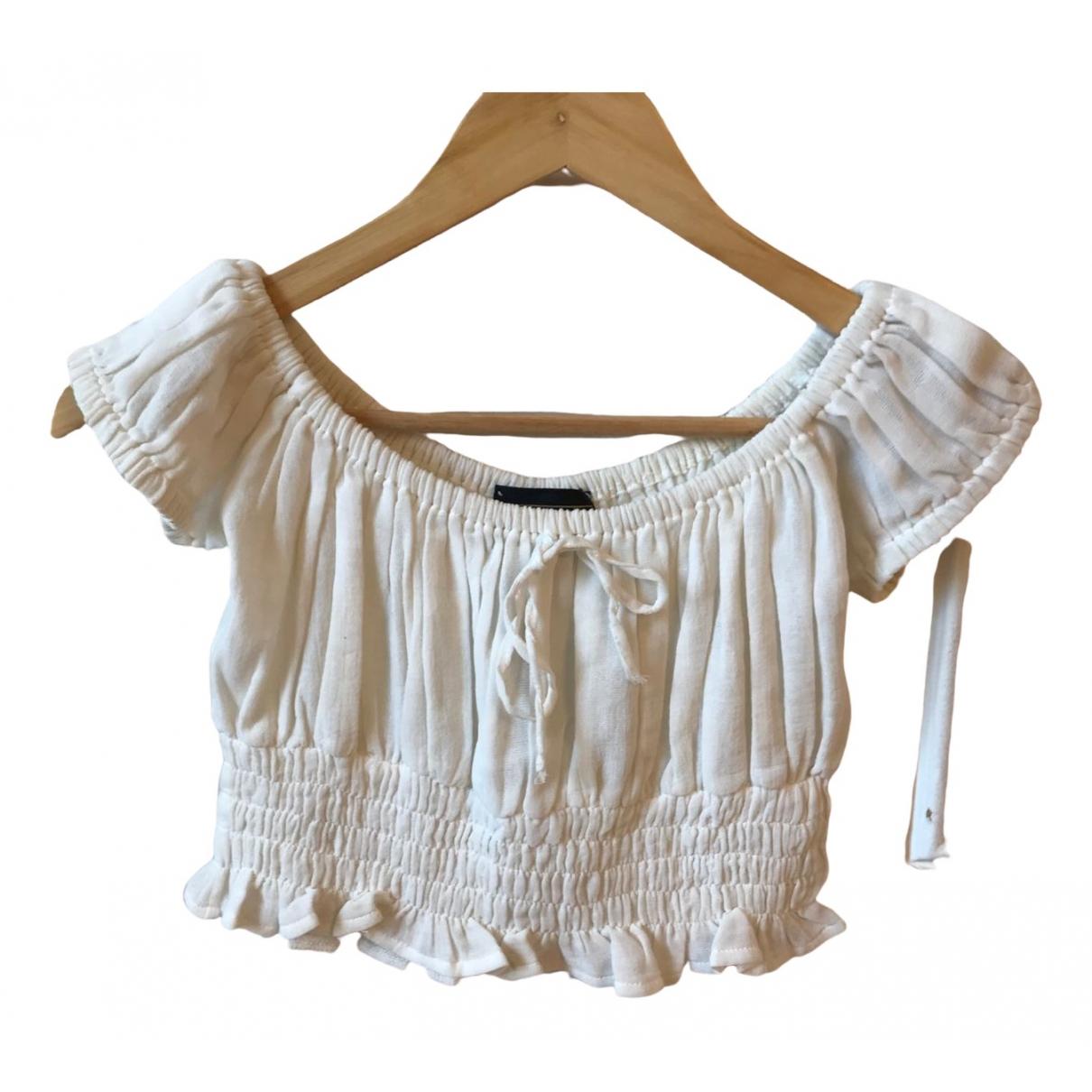 Fendi - Top   pour femme en coton - blanc