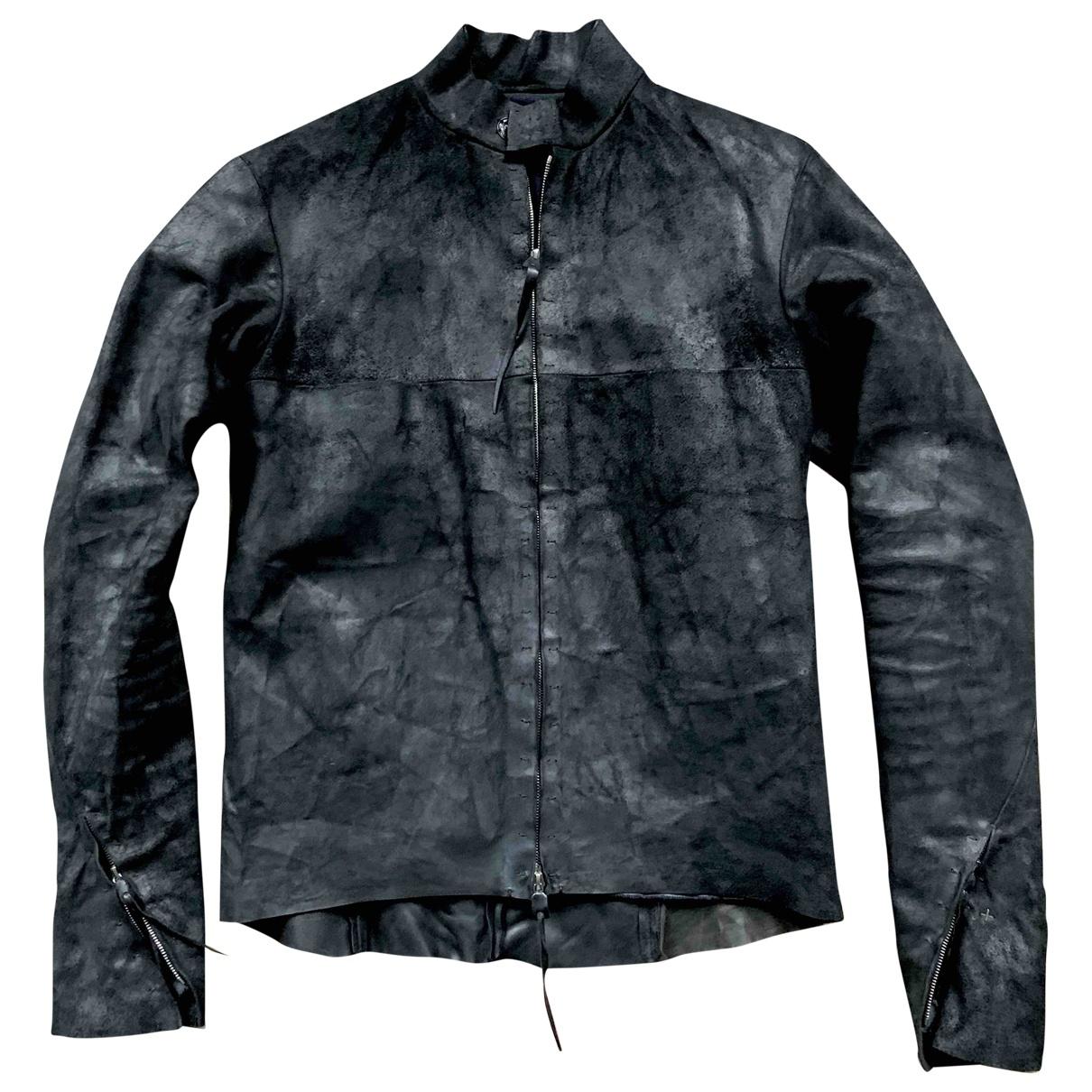 Ma+ \N Black Leather jacket  for Men XL International