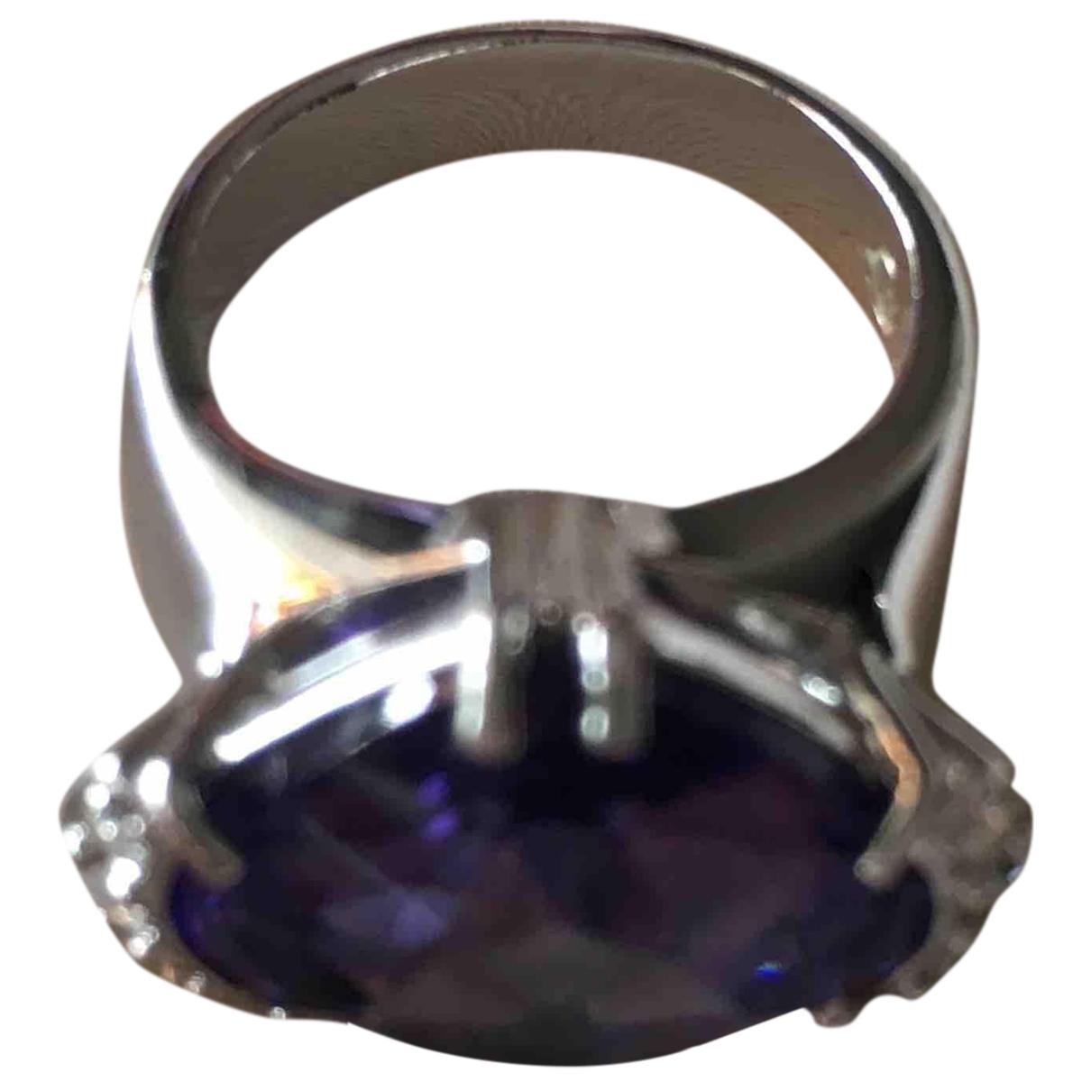 Swarovski \N Ring in  Lila Silber