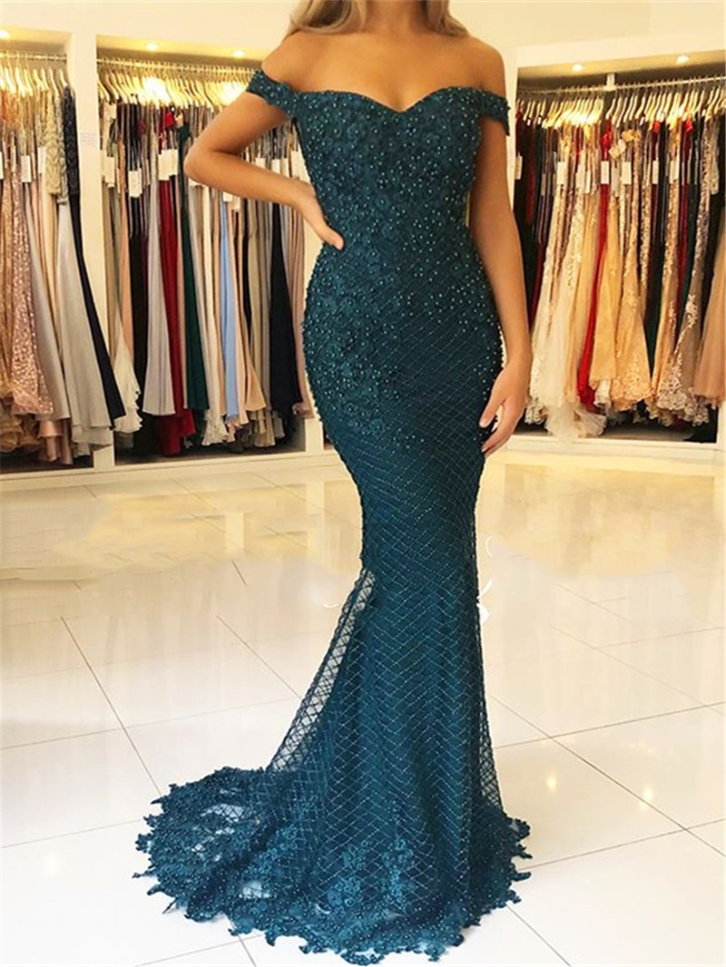 Ericdress Floor-Length Appliques Cap Sleeves Evening Dress