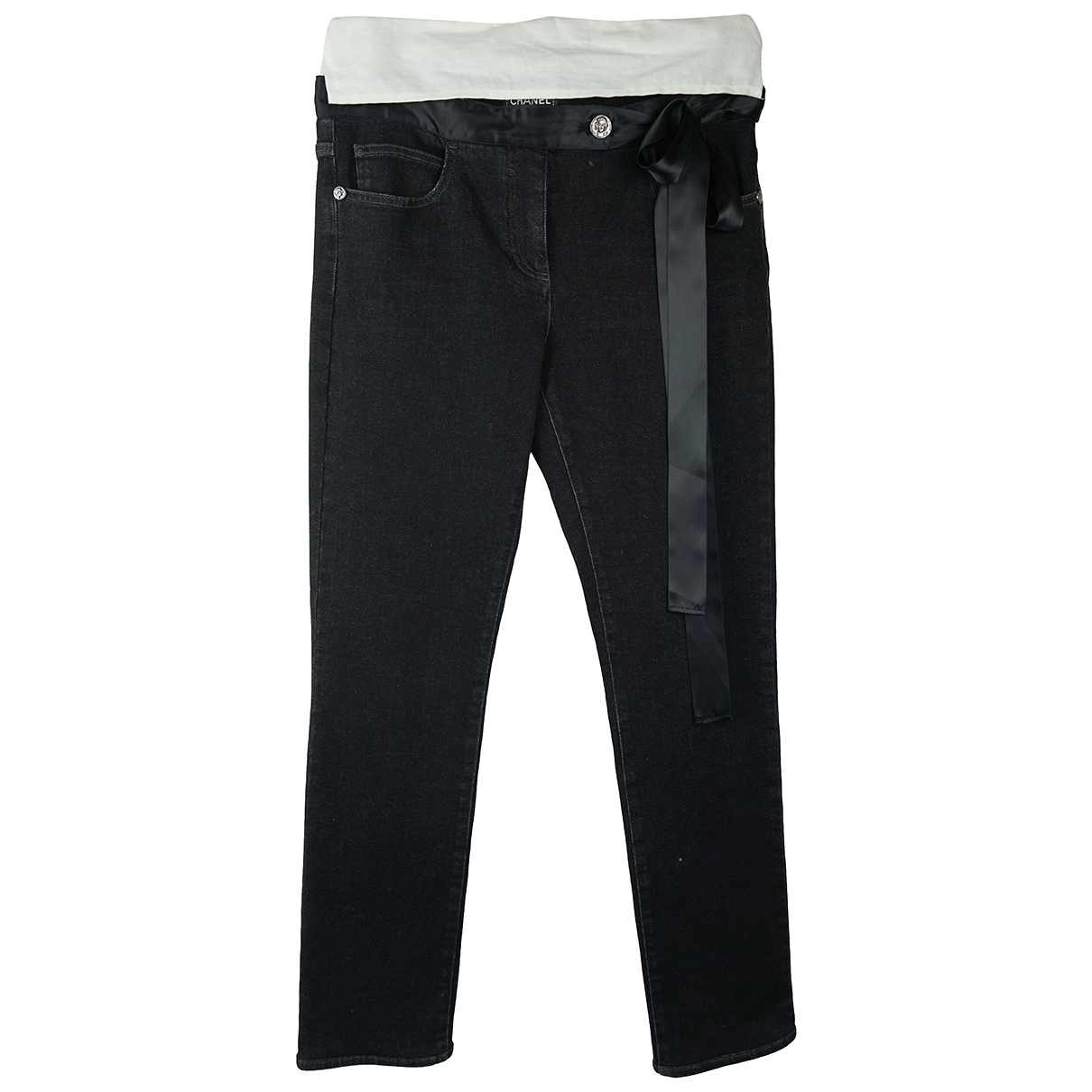 Chanel \N Anthracite Cotton Jeans for Women 40 FR