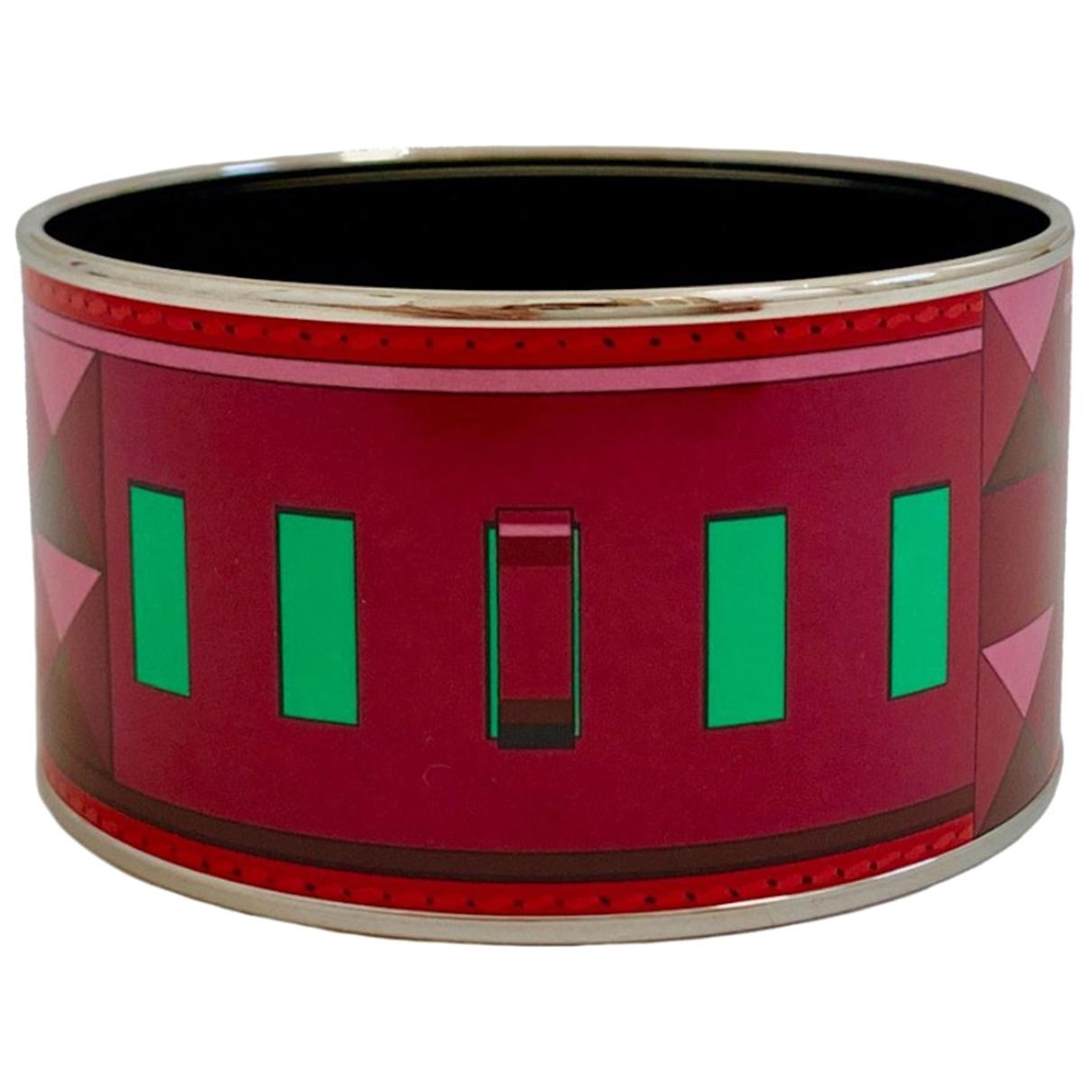 Hermes - Bracelet Bracelet Email pour femme en metal - rouge