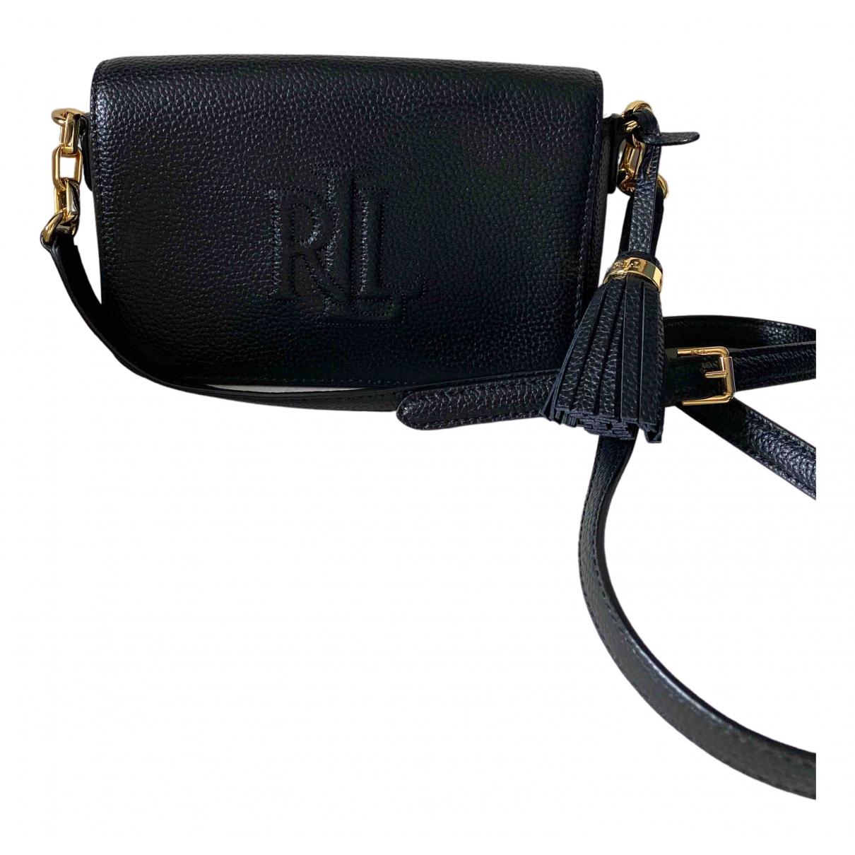 Lauren Ralph Lauren N Black Leather handbag for Women N