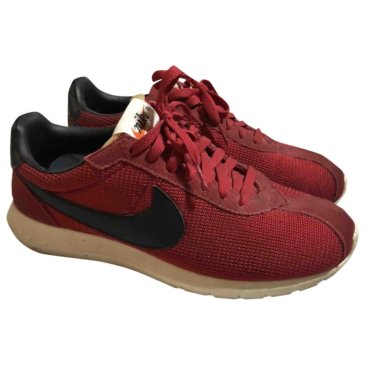 Nike - Baskets Roshe Run pour homme en toile - rouge