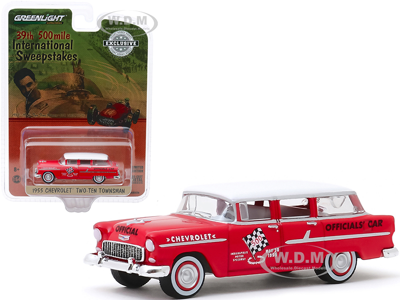 1955 Chevrolet Two-Ten Townsman Officials Car Red with White Top