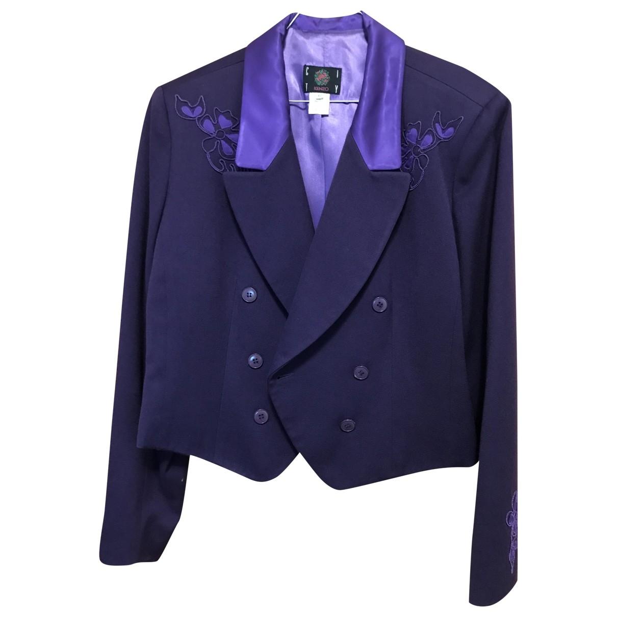 Kenzo \N Purple Wool jacket for Women 42 FR