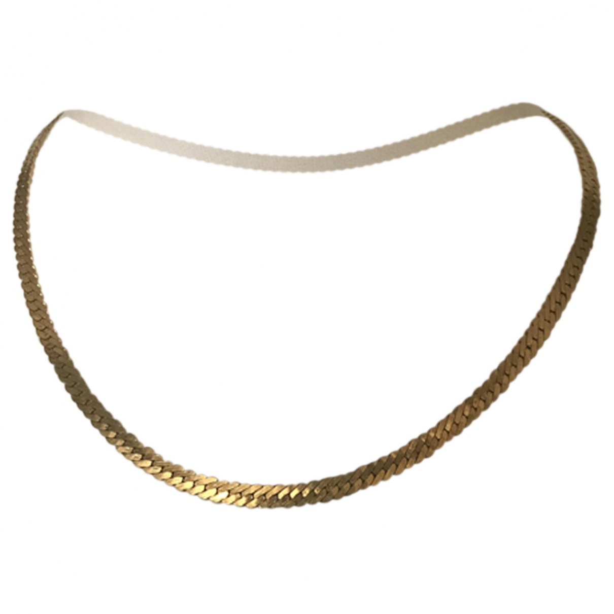 Non Signé / Unsigned  Maille Américaine Gold Metal necklace for Women \N