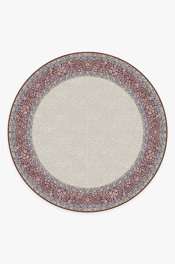 Washable Rug Cover | Afshan Burgundy Rug | Stain-Resistant | Ruggable | 8' Round