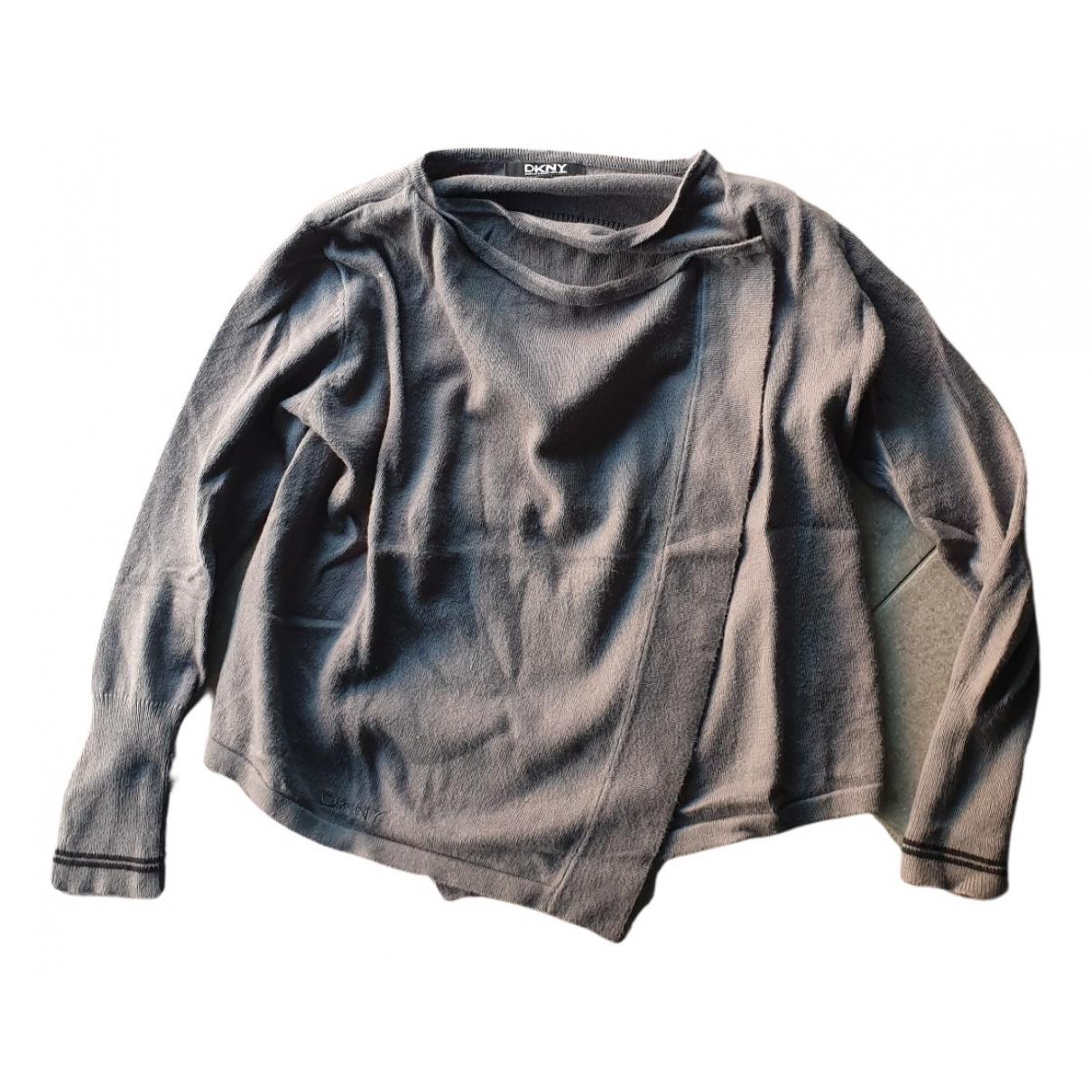 Dkny - Pull   pour enfant en coton - gris