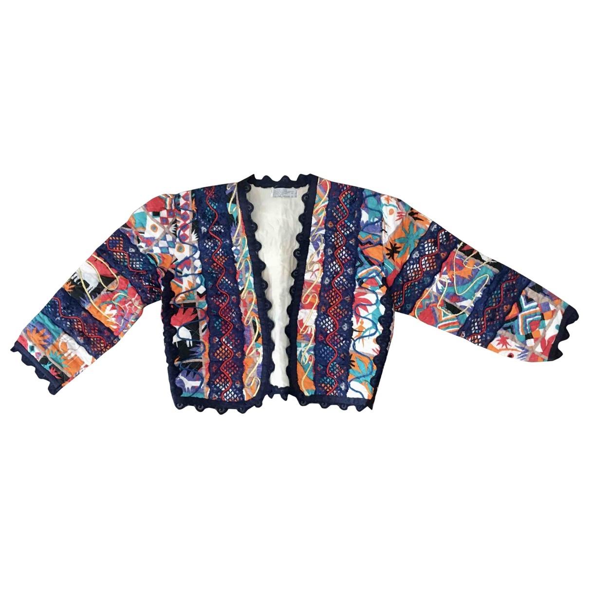 - Veste Hippie Chic pour femme en coton - multicolore
