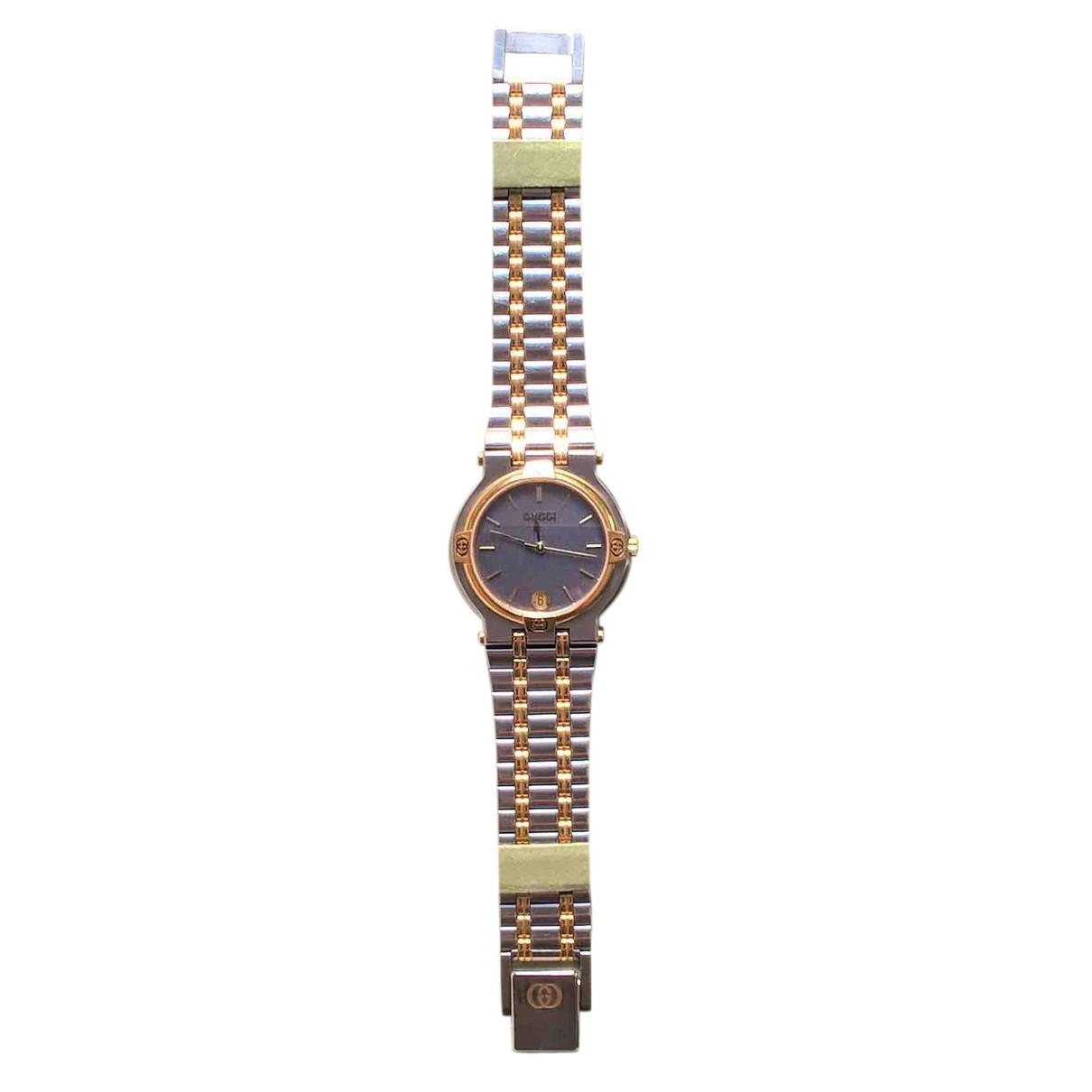 Gucci \N Uhr in  Silber Vergoldet