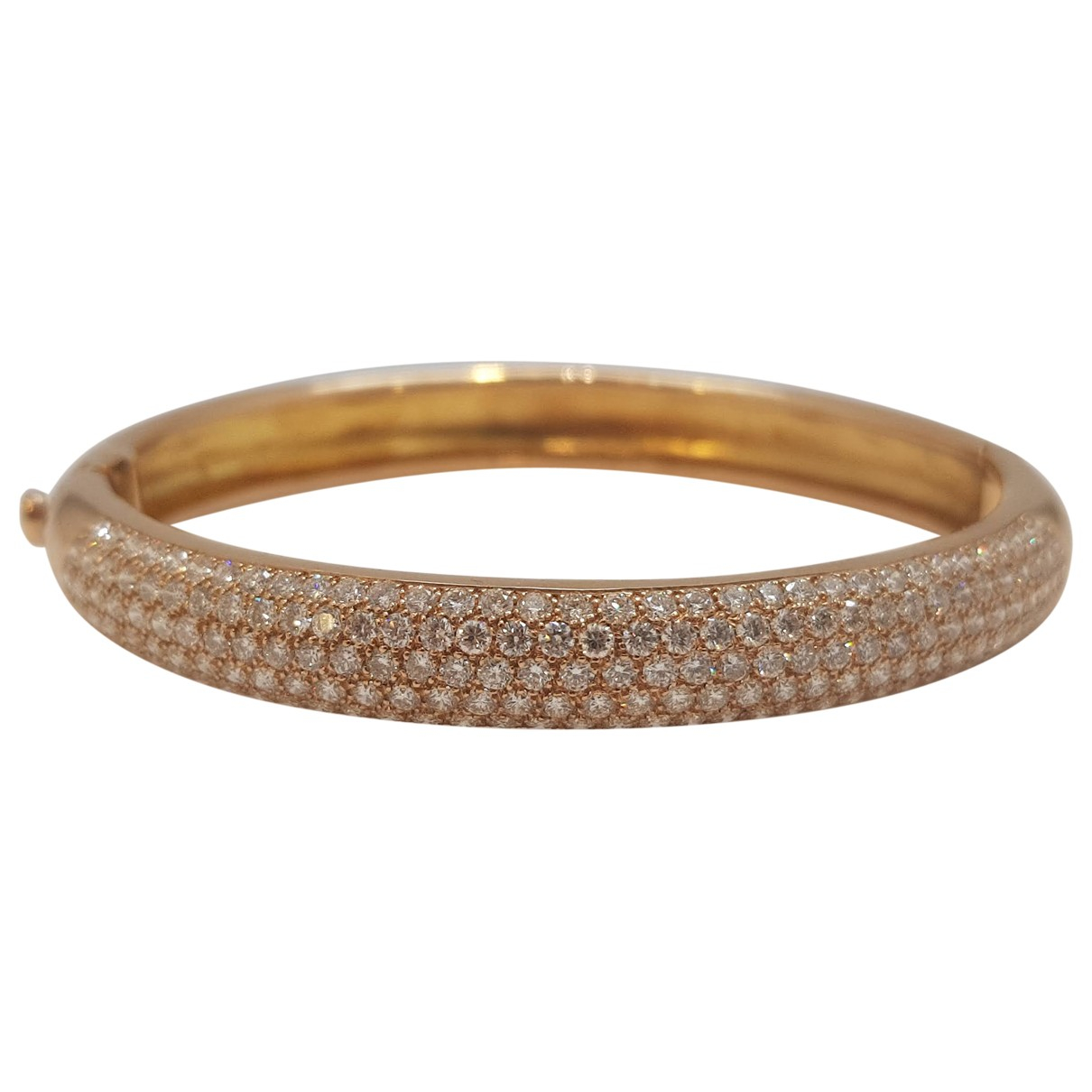 Non Signe / Unsigned Jonc Armband in  Rosa Rosegold