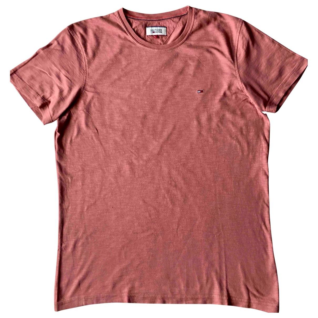 Tommy Hilfiger - Tee shirts   pour homme en coton - rouge