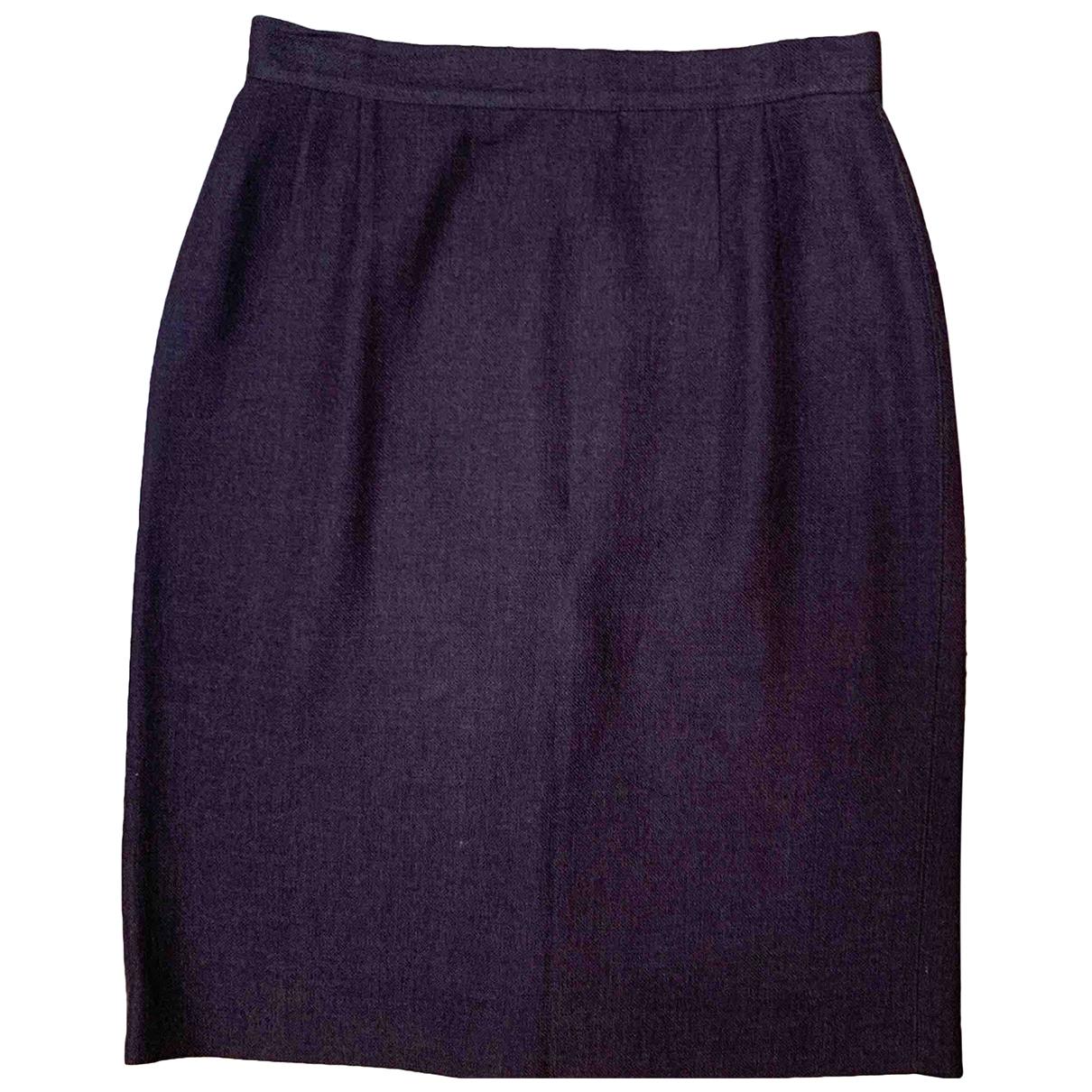 Valentino Garavani - Jupe   pour femme en laine - marron