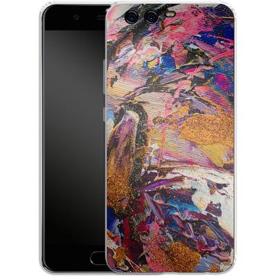 Huawei P10 Silikon Handyhuelle - Brush Swirl V von Stella Lightheart