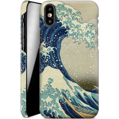 Apple iPhone XS Smartphone Huelle - Great Wave Off Kanagawa By Hokusai von caseable Designs