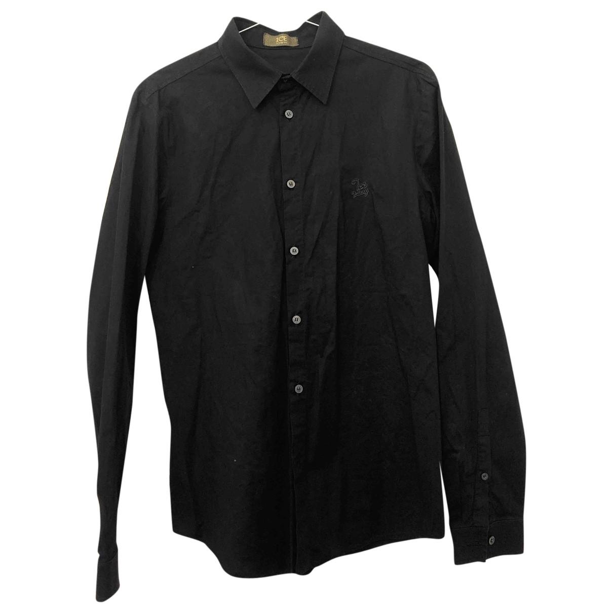 Iceberg - Chemises   pour homme en coton - noir