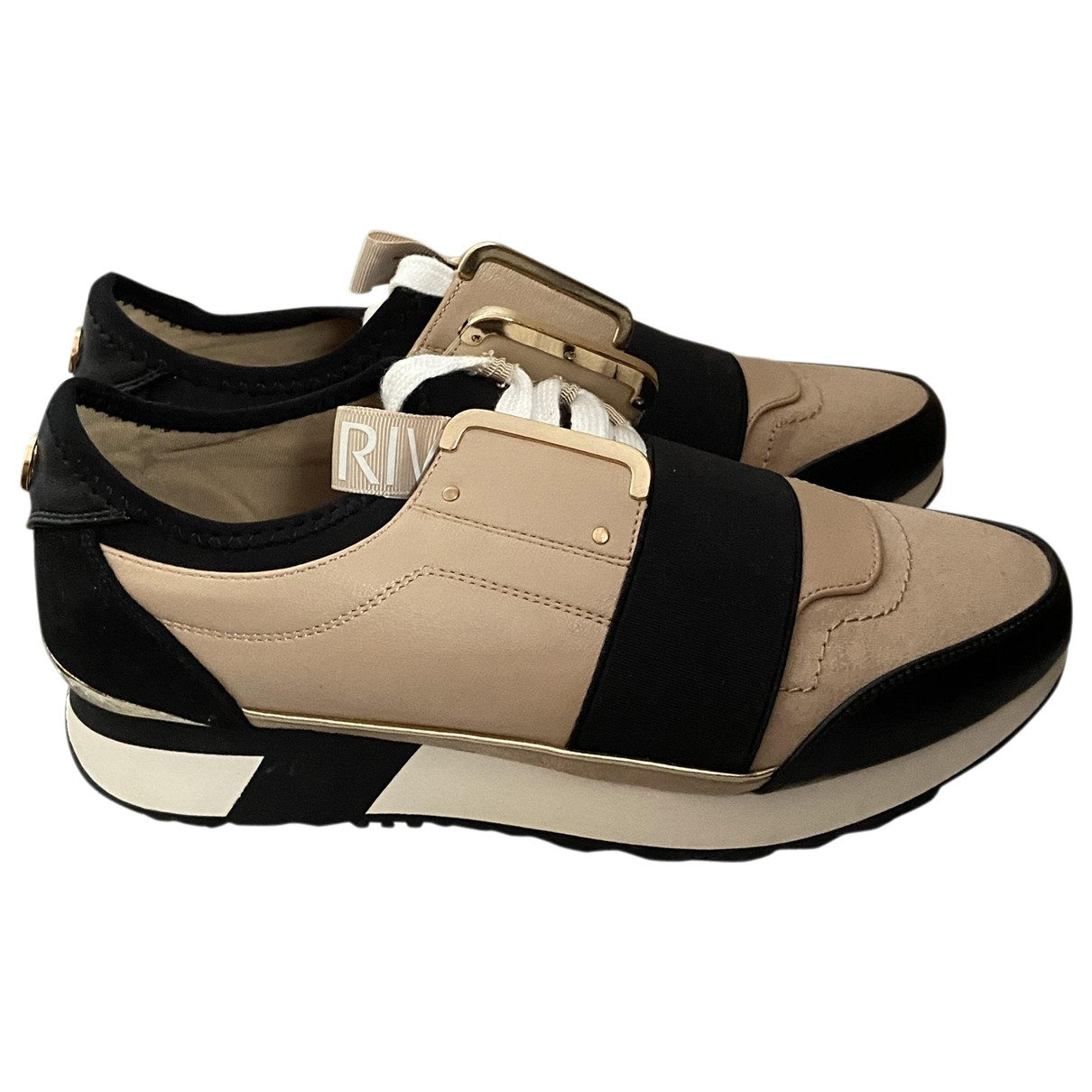 River Island \N Sneakers in  Beige Polyester