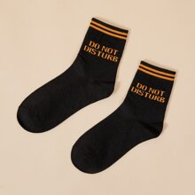 Slogan Graphic Crew Socks