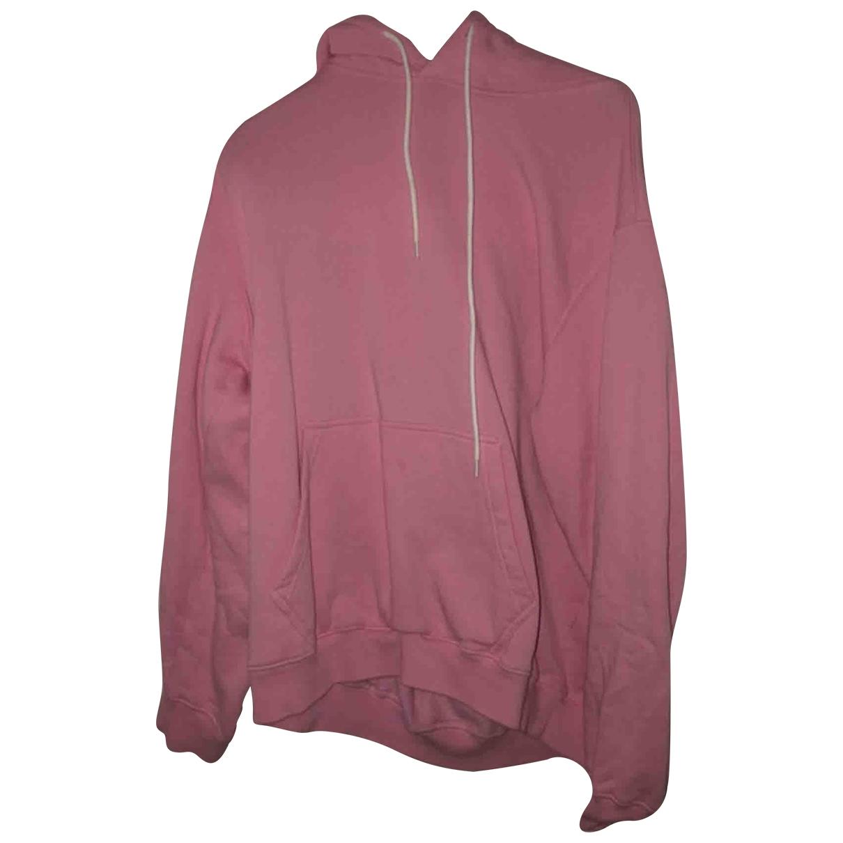 Msgm \N Pullover.Westen.Sweatshirts  in  Rosa Baumwolle